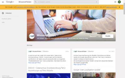 Google+ Einstellung rückt näher – Google fordert die User zum Sichern bestehender Inhalte auf