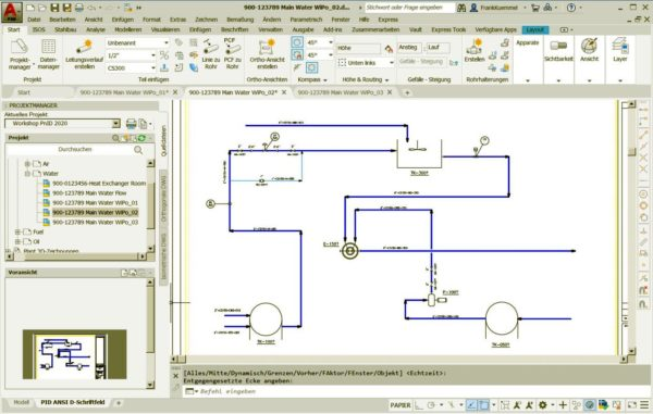 Autodesk AutoCAD P&ID im Plant 3D Toolset für Einsteiger 3