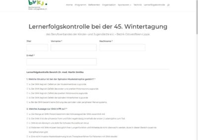 Lernerfolgskontrolle auf der Website