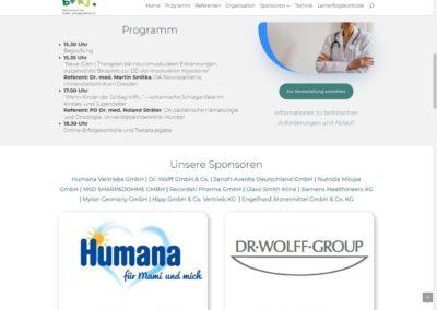 Programm und Sponsorenliste
